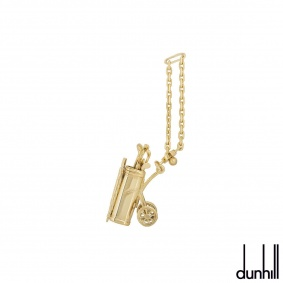 Dunhill Yellow Gold Golf Trolly Key Chain